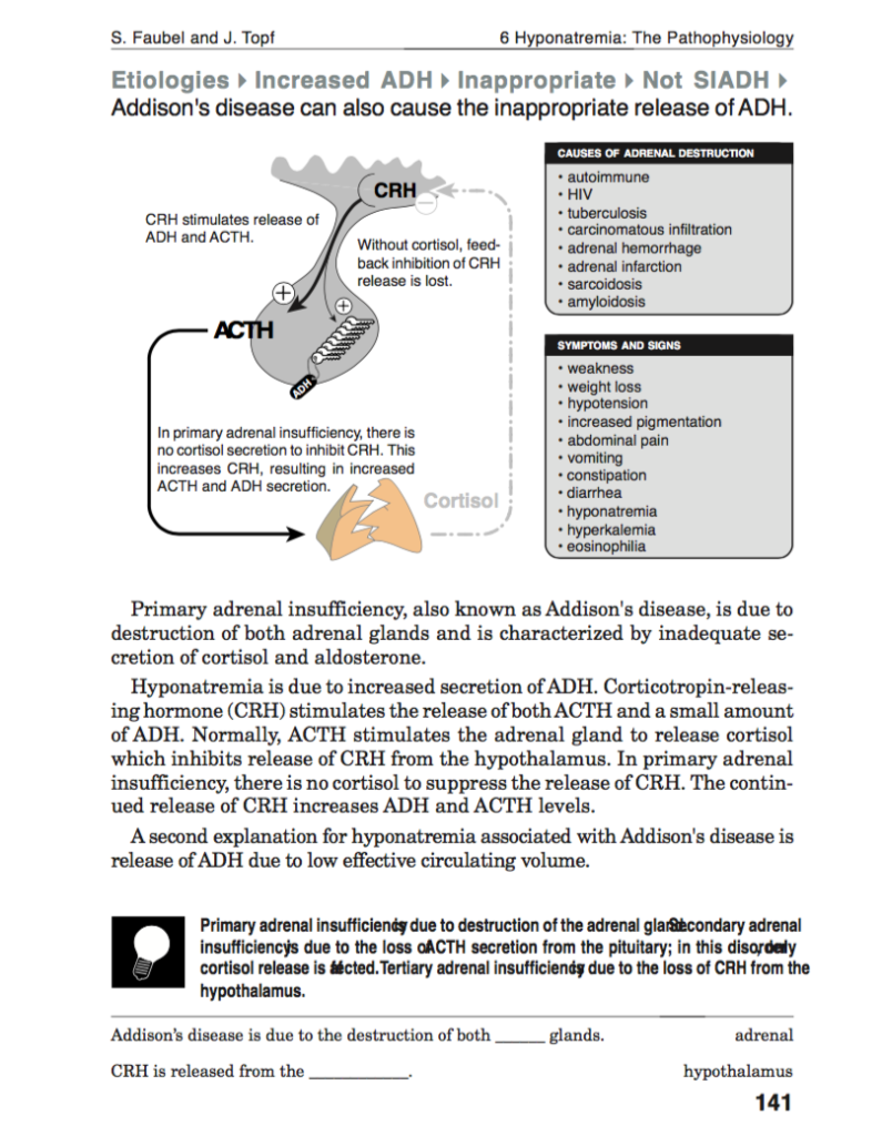 Adrenal insufficiency and hyponatremia – Precious Bodily